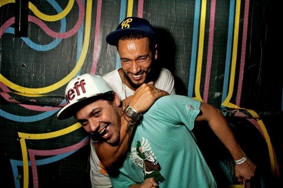 Slim e o amigo Thiago Beats