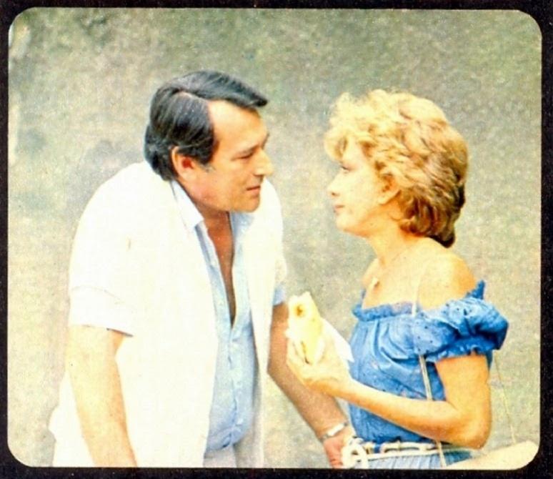 """1981 - Paulo Goulart e Glória Menezes em cena da novela """"Jogo da Vida"""""""