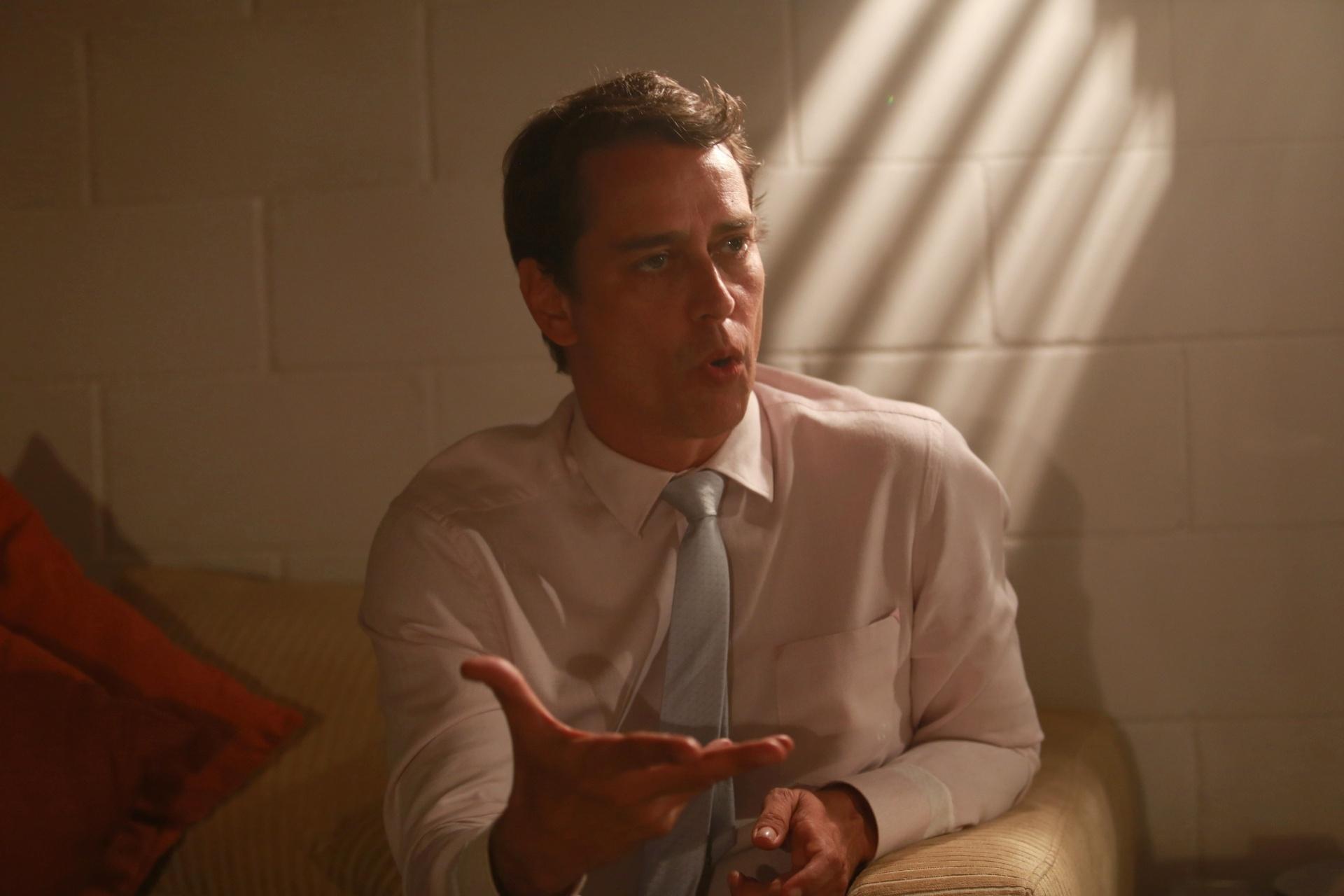 7.jan.2014 - O ator Marcello Antony diz, em camarim do Projac, que os gays não perdoam Eron de