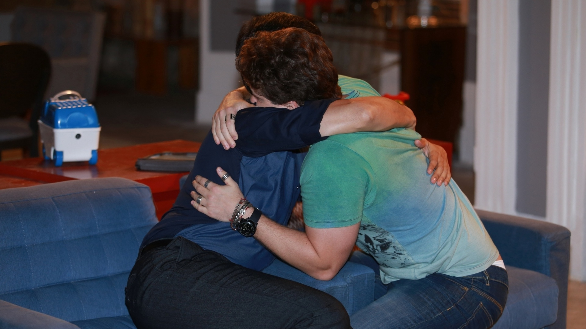 7.jan.2014 - Thiago Fragoso e Mateus Solano ensaiam cena de