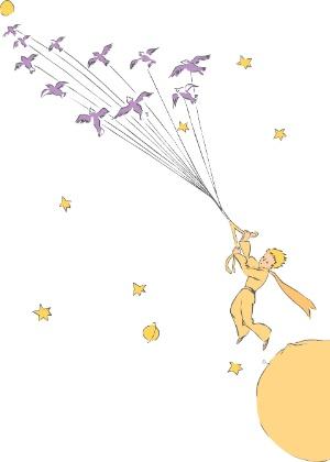 """Ilustração do livro """"O Pequeno Príncipe"""""""