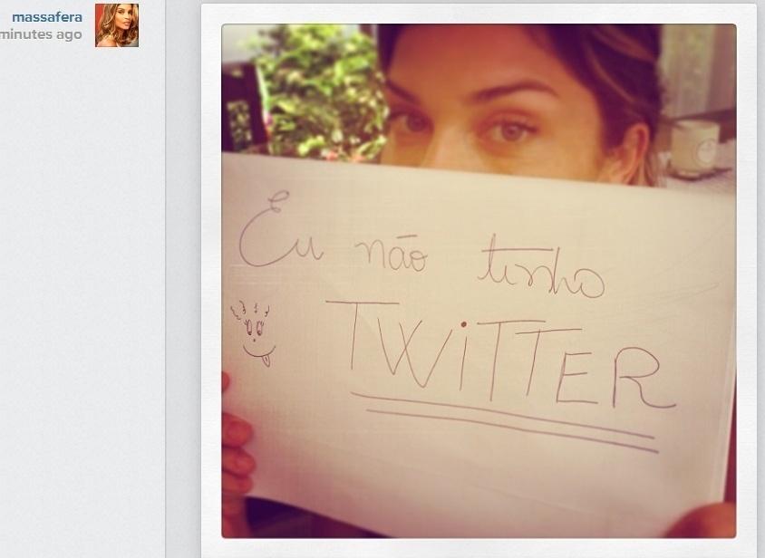 09.jan.2014- Em foto no Instagram, Grazi Massafera avisa:
