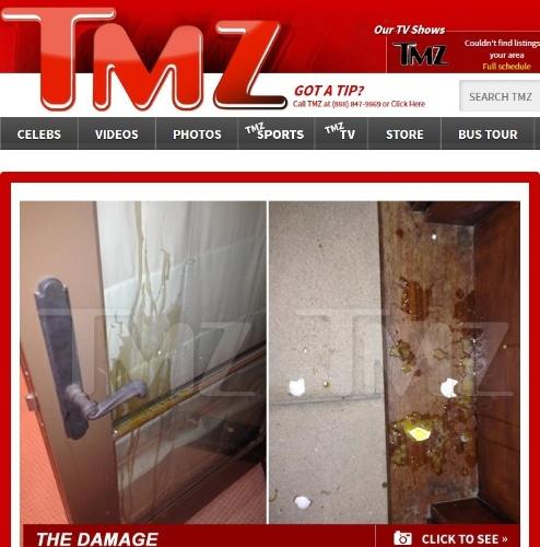 10.jan.2014 - Justin Bieber ataca casa de vizinho com 20 ovos