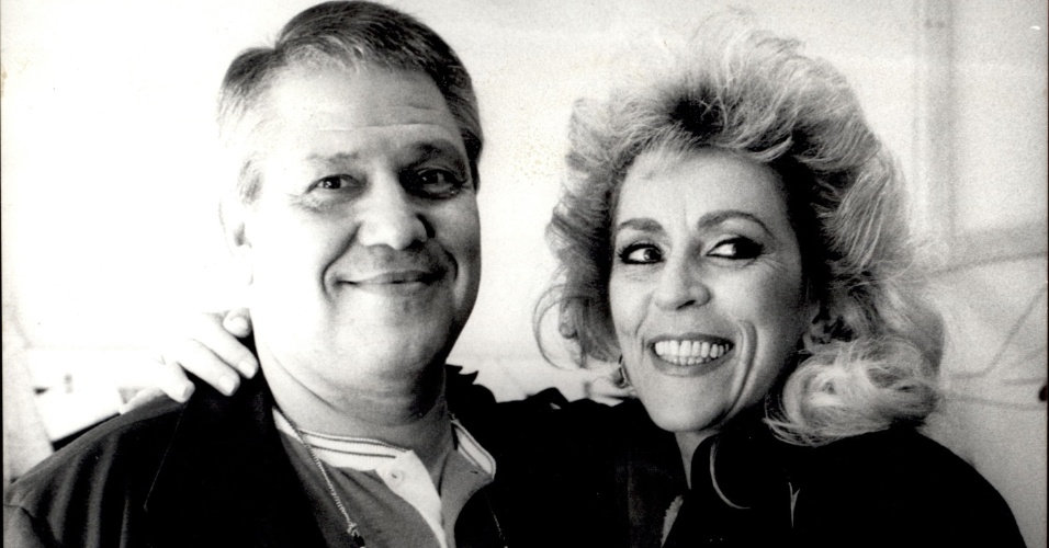 9.jul.1987 - Marly Marley e seu marido, o ator e humorista Ary Toledo