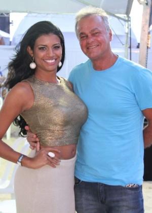 Kadu Moliterno com a ex Brisa Ramos, que o acusou de agressão