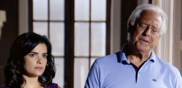 """15.jan.2014 - Em """"Amor à Vida"""", Aline fica furiosa ao ter seu plano para matar César e Ninho interrompido"""