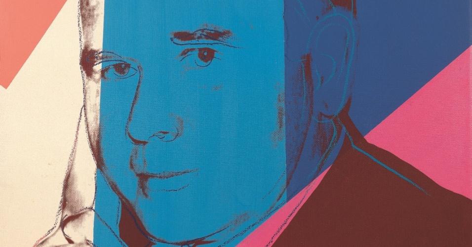 """""""Portrait of Peter Ludwig"""" (1980), de Andy Warhol, presente na exposição """"Visões na Coleção Ludwig"""", em cartaz de 25 de janeiro a 21 de abril no CCBB SP."""