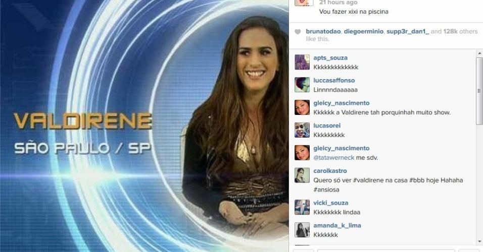15,jan,2014 - Tatá Werneck postou no Instagram que faria