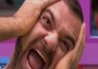 Vagner acorda com a corda toda no quinto dia de confinamento - Reprodução/TV Globo