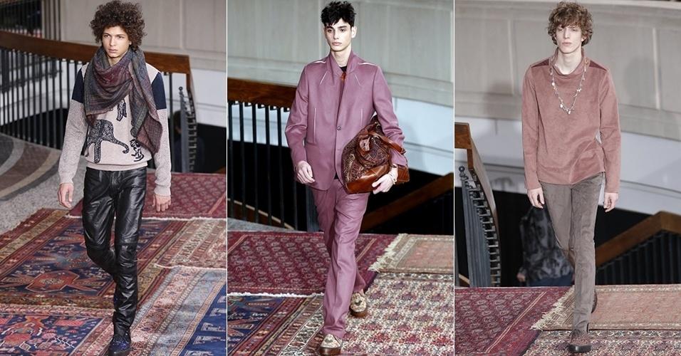 19 jan. 2014 - Modelos desfilam looks de Paul Smith para o Inverno 2014 durante a semana de moda masculina de Paris
