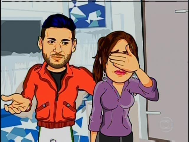 19.jan.2014 - A charge de Maurício Ricardo brinca com Rodrigo e Letícia