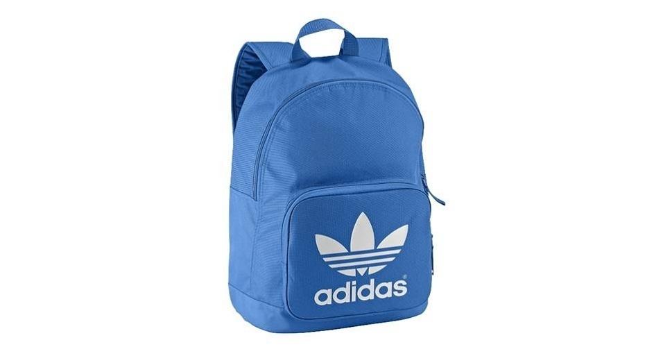 mochila adidas azul naranja