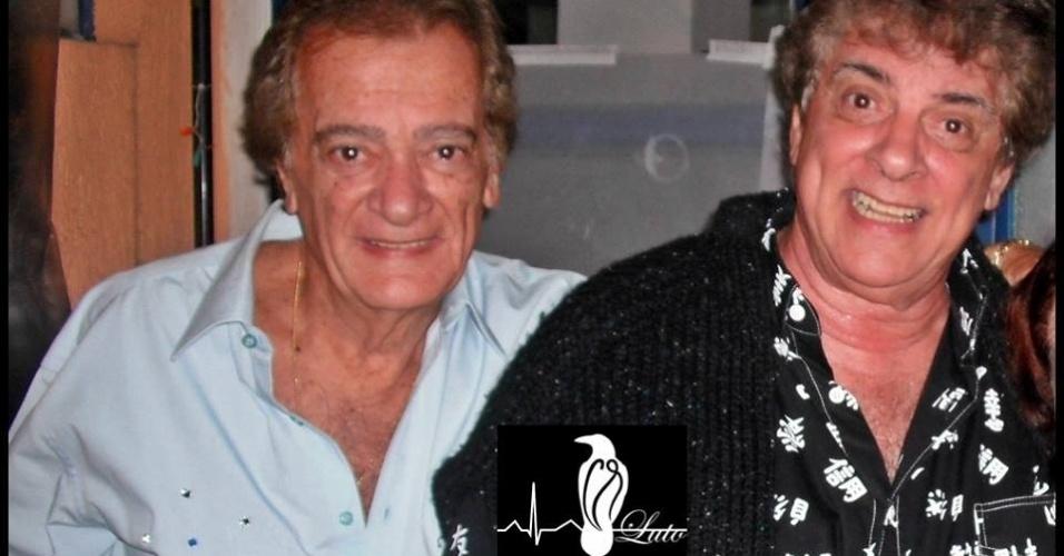 Márcio Augusto Antonucci (a direita) e seu irmão Ronald formavam a dupla Os Vips, sucesso da década de 60