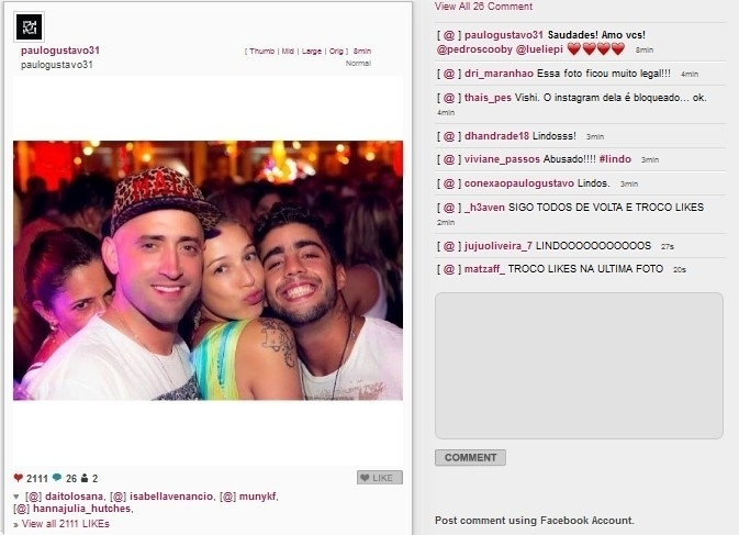 21.jan.2014 - Paulo Gustavo se declara para Luana Piovani e Scooby