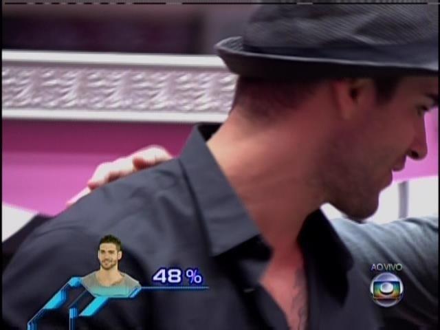 21.jan.2014.Rodrigo se despede dos participantes