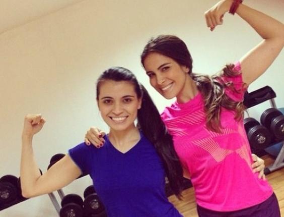 Kamilla e a irmã Karina