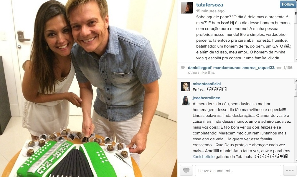 Thais Fersoza se declara para Michel Teló