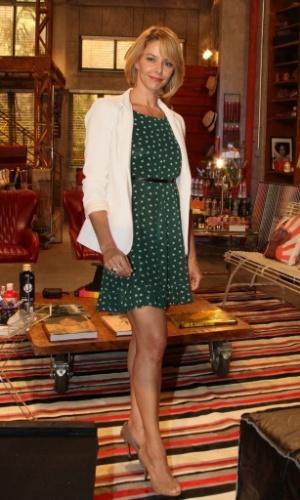 22.jan.2014 - A atriz Bianca Rinaldi participa da apresentação de ...