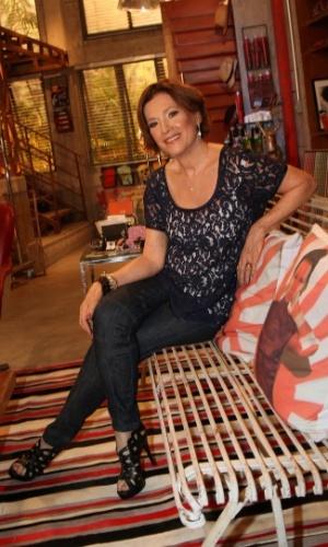 """22.jan.2014 - Natália do Valle posa durante a apresentação de """"Em ..."""