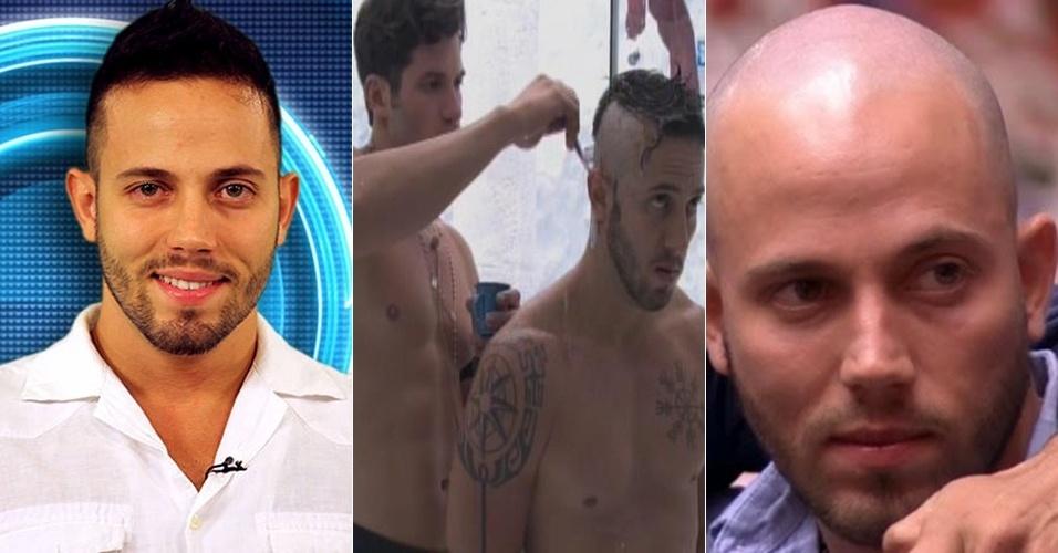 João Almeida raspou os cabelos no