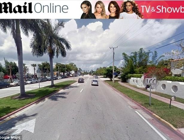 23.jan.2014 - Justin Bieber é detido pela polícia de Miami, nos EUA, por dirigir embriagado e disputar racha. Cena do crime em Miami