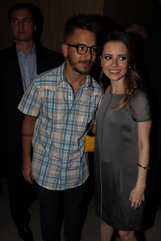 27.jan.2014 - Junior Lima prestigiou a pré-estreia do filme