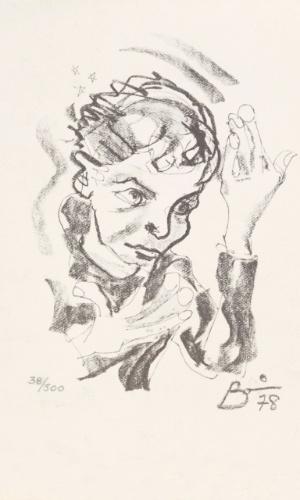 David Bowie em autorretrato, cortesia The David Bowie Archive Image. A exposição David Bowie fica em cartaz no MIS (Museu da Imagem e do Som) de 31 de janeiro a 20 de abril de 2014.