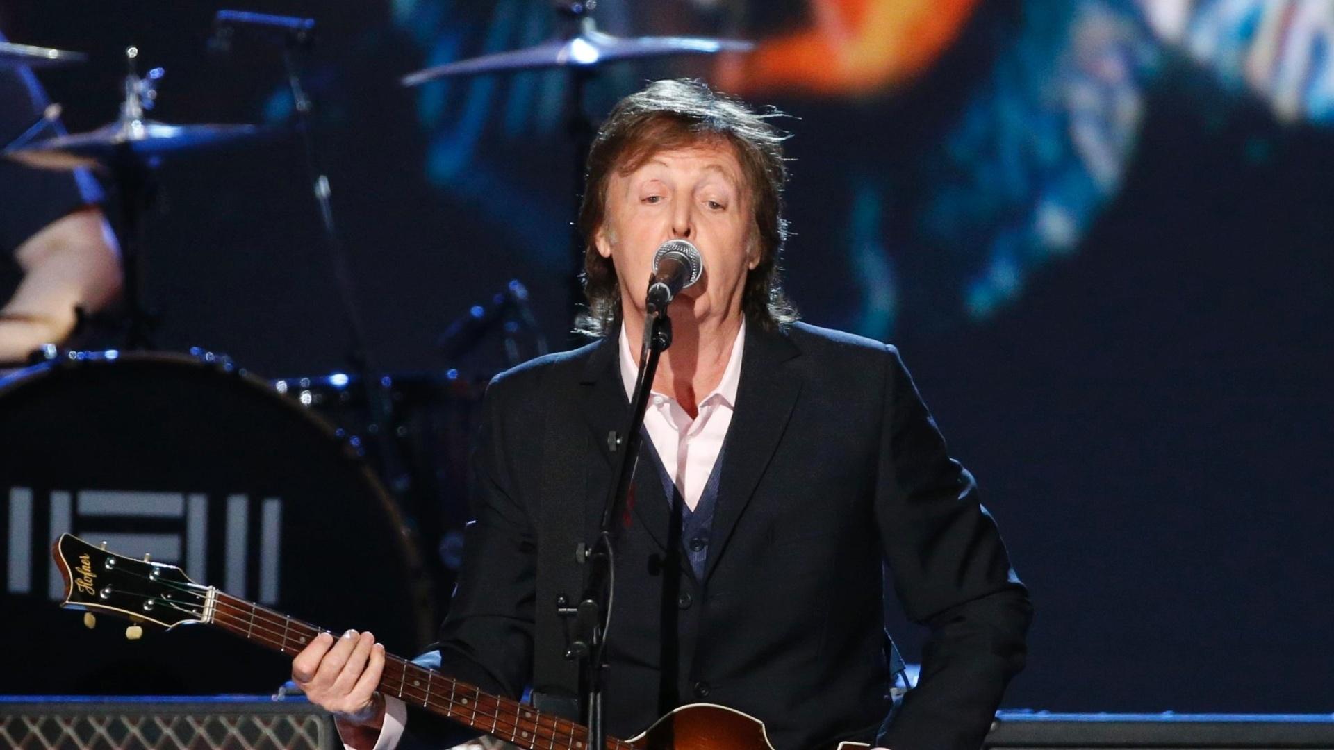 27.jan.2014 - Paul McCartney durante gravação do especial
