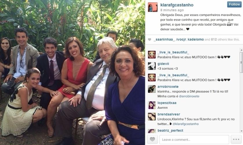 """28.jan.2014 - Klara Castanho publica foto dos bastidores das cenas finais de """"Amor à Vida"""""""