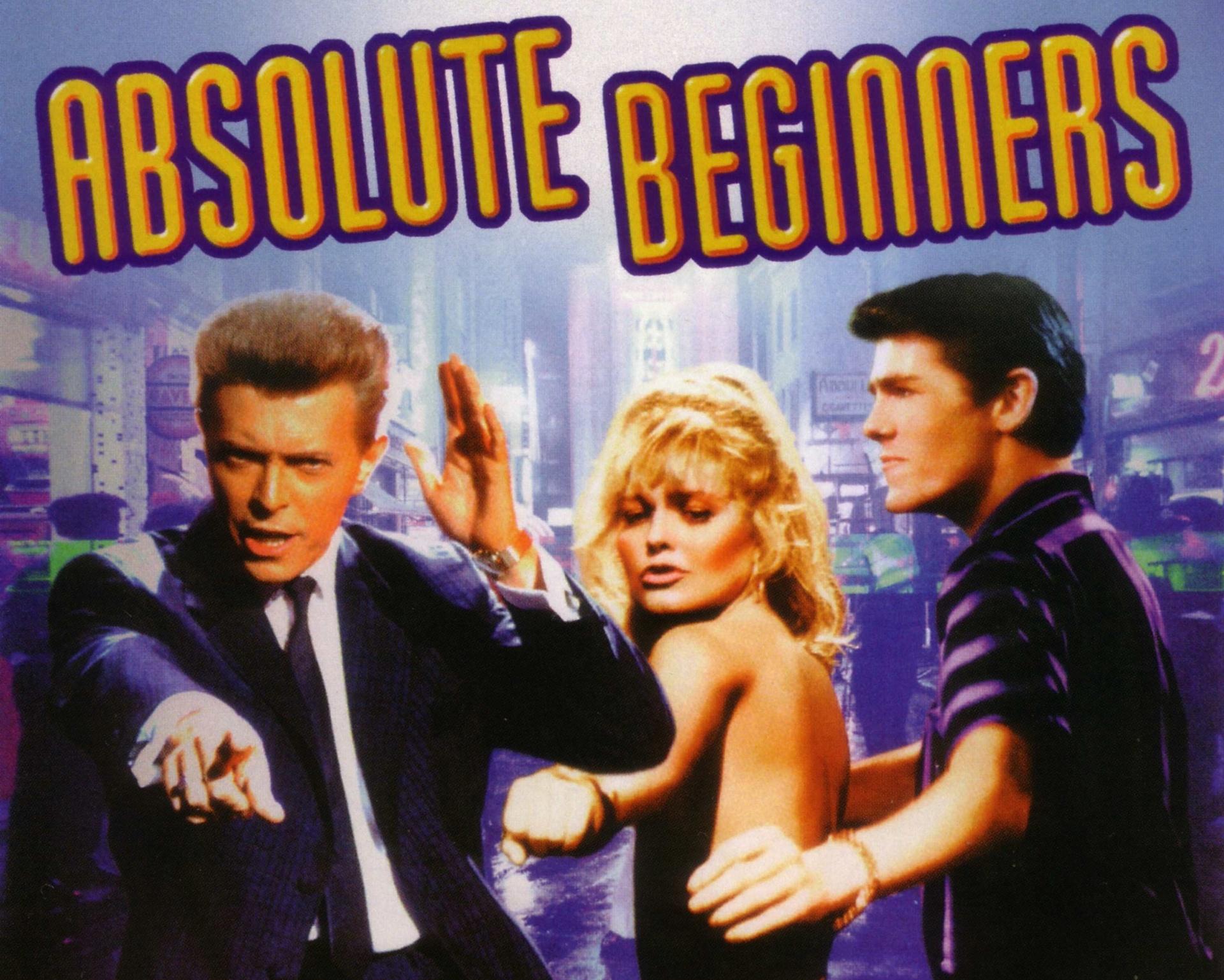 Absolute Beginners (Dir.: Julien Temple, 1986) - Bowie foi convidado para esse musical sobre a década de 50 em Londres e adorou a proposta. Mas pediu uma condição: que ele ficaria encarregado da trilha sonora. O filme teve vários problemas de orçamento e sofreu atrasos. No fim, a canção composta por Bowie, que leva o nome do filme, foi um sucesso, mas o longa não teve a mesma sorte