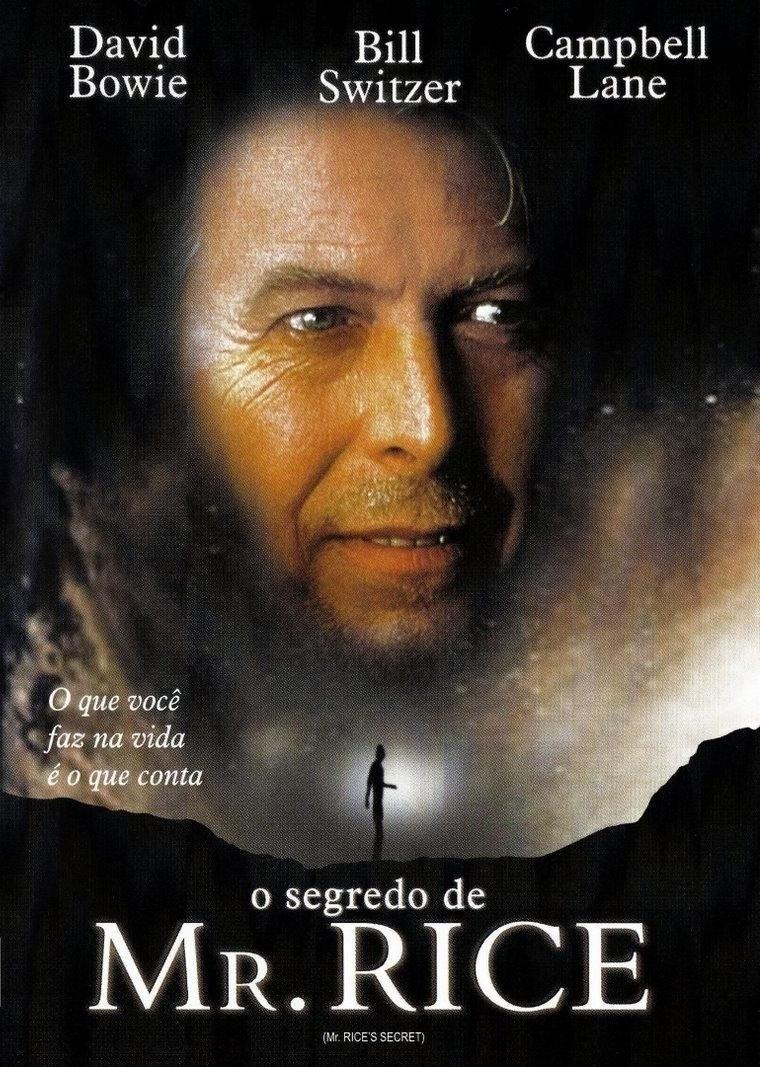 Mr. Rice's Secret (Dir.: Nicholas Kendall, 2000) - A má fase no cinema é coroada com esse longa canadense, onde Bowie interpreta um senhor de 400 anos (!!!) que salva uma criança doente de 12 anos. Tocante, não? Seria se alguém tivesse assistido ao filme