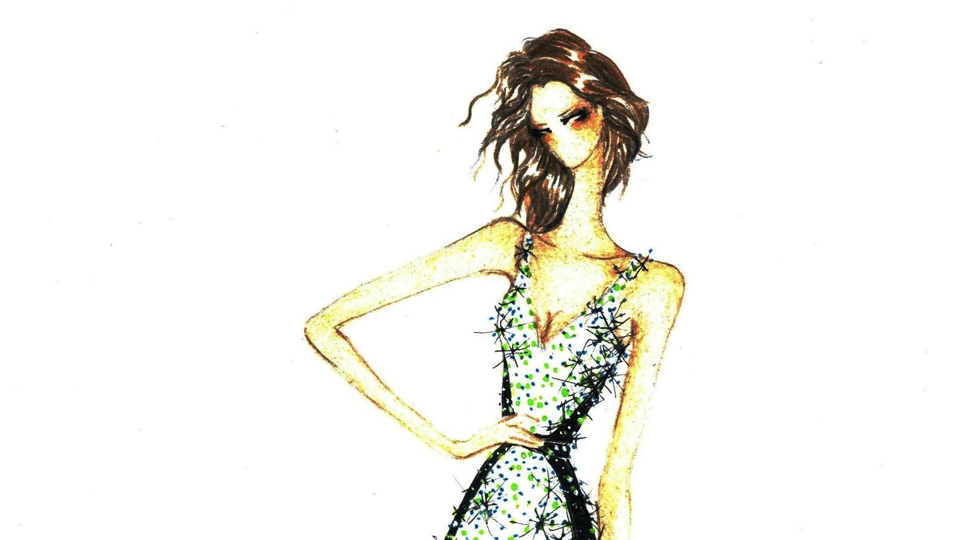 Desenho do vestido que Ivete Sangalo usará no Festival de Verão de Salvador 2014