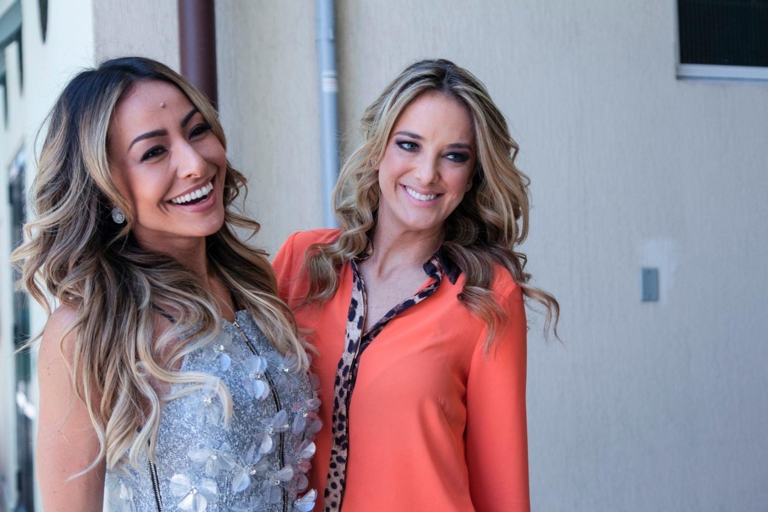 Sabrina Sato encontra Ticiane Pinheiro na Record