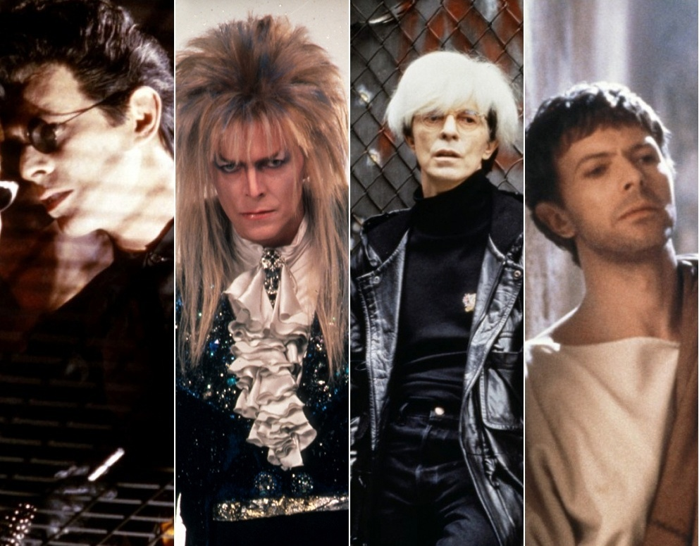 Vampiro, rei dos duendes, Andy Wahrol e Pôncio Pilates: Assim como na música, David Bowie usou seu poder de camaleão no cinema e fez papeis delirantes, inesquecíveis ou que ninguém viu. Sua carreira como ator começou antes mesmo de fazer sucesso na música e suas atuações elogiadas vem de seus estudos em teatro de vanguarda e mímica. Confira as mil faces de Bowie no cinema: