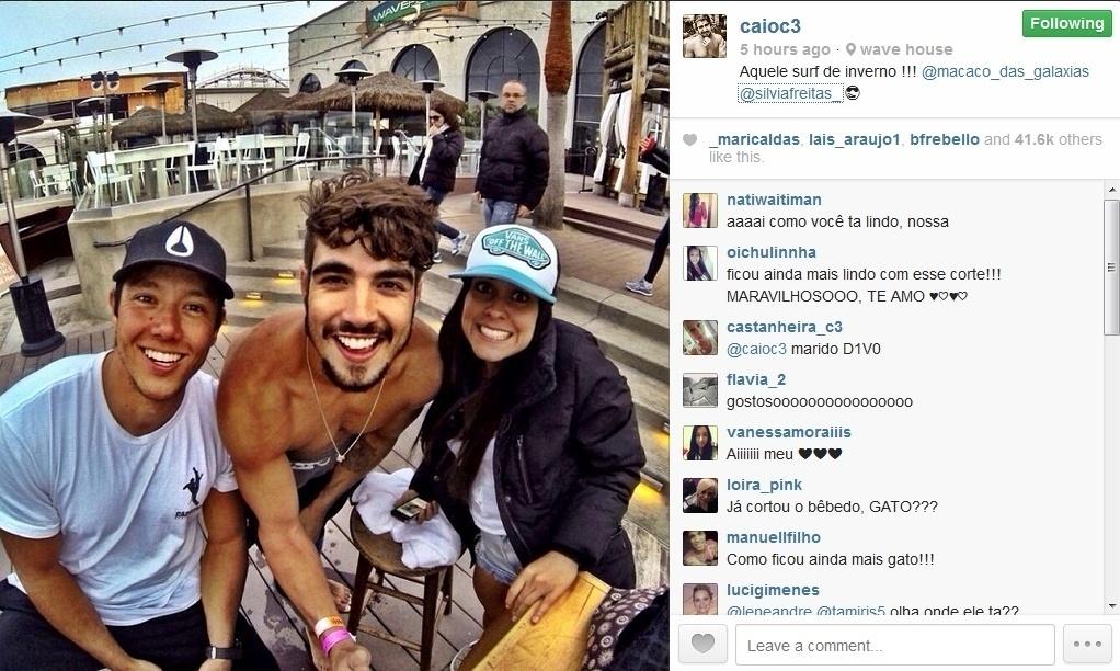 30.jan.2014 - Caio Castro muda o visual e tira férias em San Diego, na Califórnia