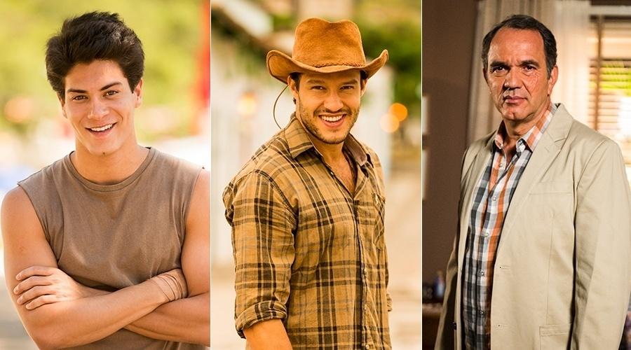 """Arthur Aguiar, Nando Rodrigues e Humberto Martins interpretam Virgílio em """"Em Família"""""""