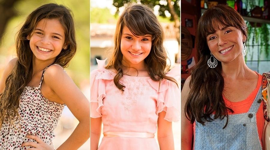 """Luana Marquezine, Karize Brum e Giovanna Antonelli interpretam Clara em """"Em Família"""""""