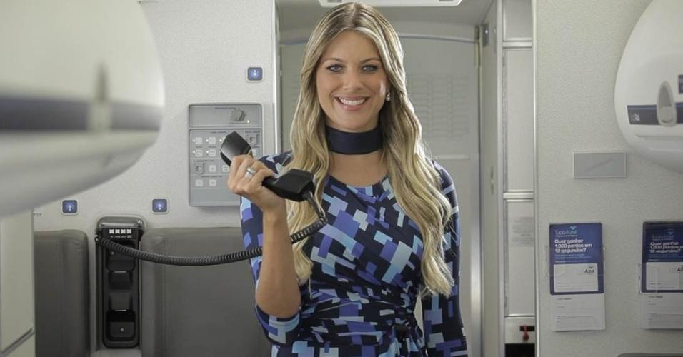 Renata Fan em comercial para a Azul Linhas Aéreas