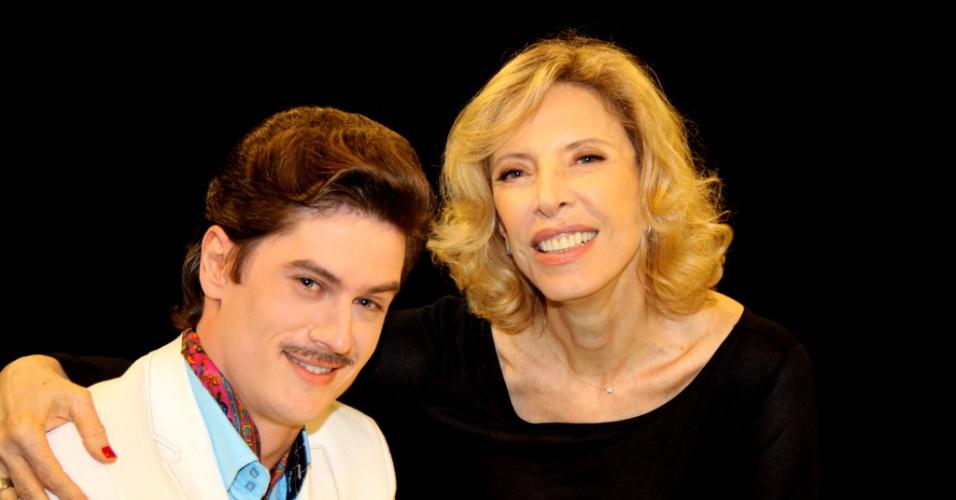 31.jan.2014 - Marília Gabriela participa de