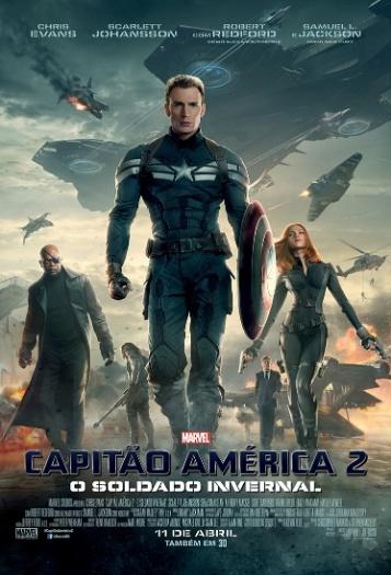 """Pôster nacional de """"Capitão América 2: O Soldado Invernal"""""""