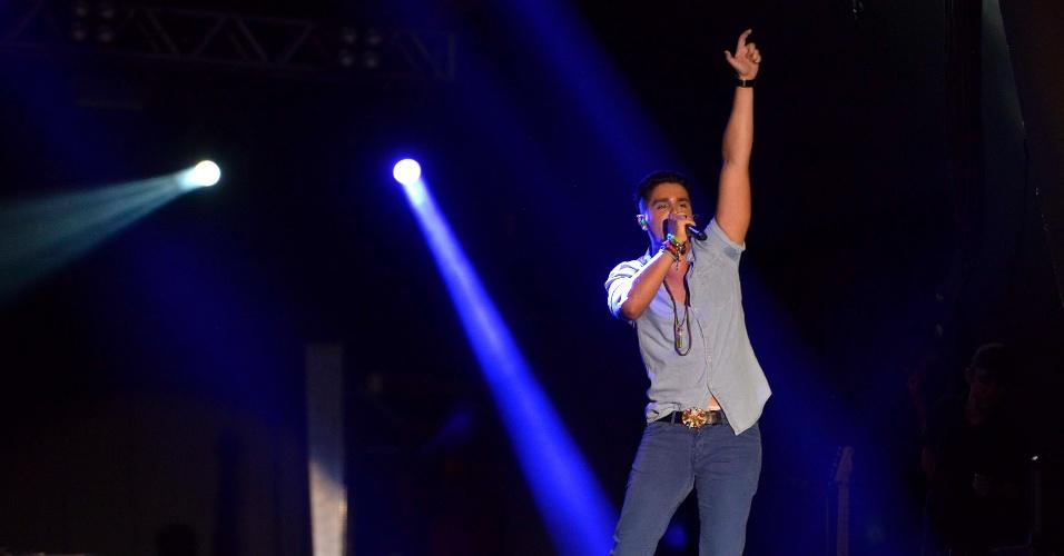 1.fev.2014 - Luan Santana no Festival de Verão de Salvador