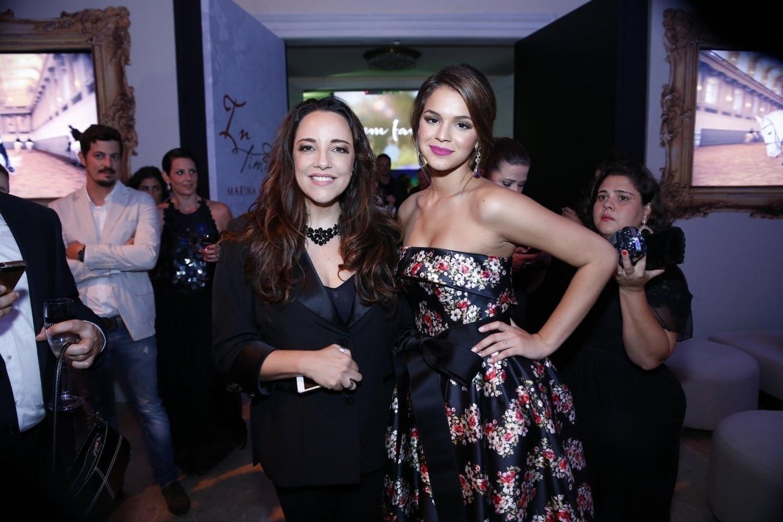 2.fev.2014 - Bruna Marquezine e Ana Carolina na festa da novela