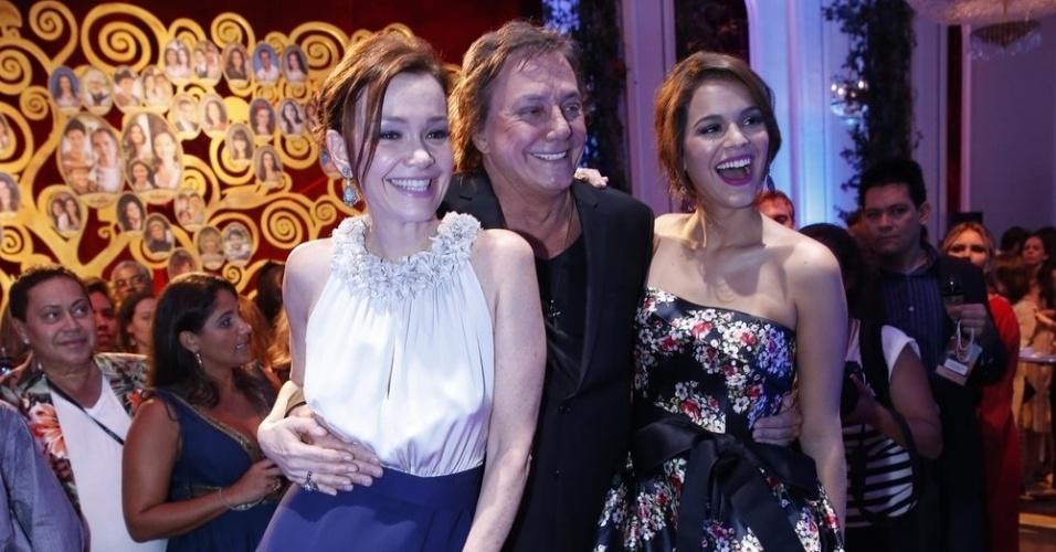 fev.2014 - Júlia Lemmertz, Fábio Junior e Bruna Marquezine na ...