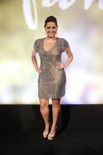 """2.fev.2014 - Poliana Aleixo na festa da novela """"Em Família"""""""