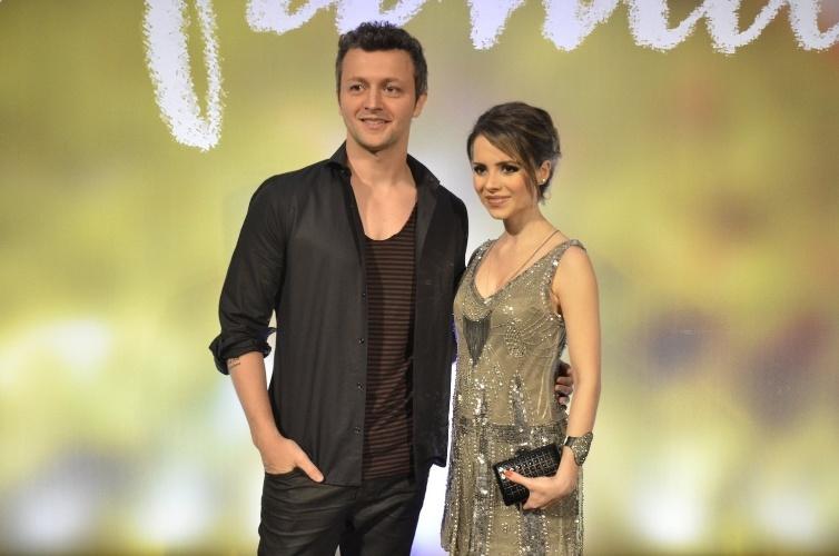 """2.fev.2014 - Sandy e Lucas Lima na festa da novela """"Em Família"""""""