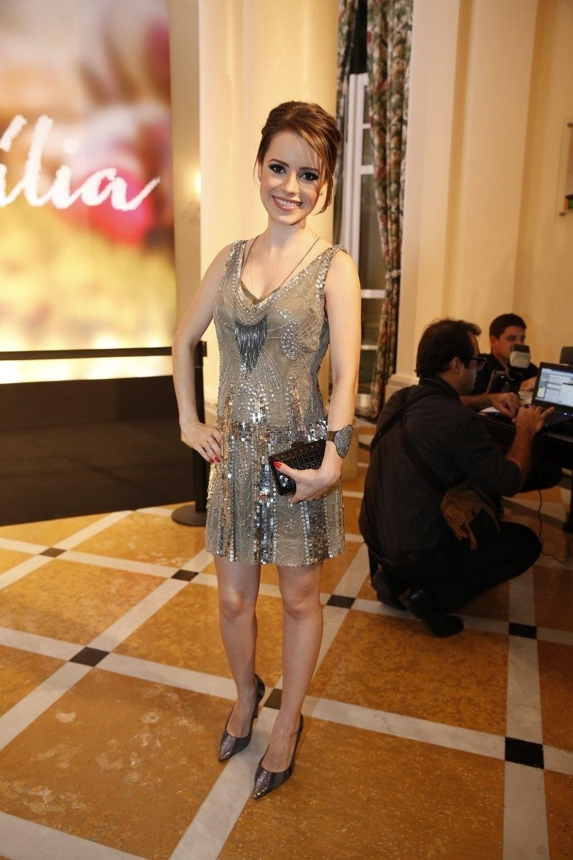 2.fev.2014 - Sandy na festa da novela