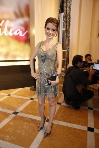 """2.fev.2014 - Sandy na festa da novela """"Em Família"""""""