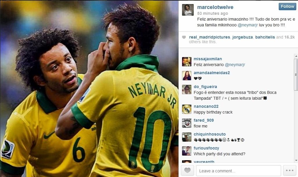5.fev.2014 - Famosos parabenizam Neymar pelo aniversário e publicam fotos com o jogador