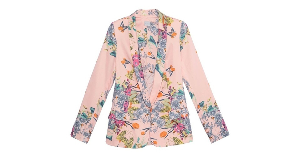 Blazer rosa floral; R$ 589, da Shop 126 no Oqvestir (www.oqvestir.com.br) Preço pesquisado em janeiro de 2014 e sujeito a alterações