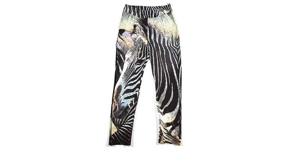 Calça de alfaiataria com estampa de zebra; R$ 858, na Alessa (www.alessa.com.br) Preço pesquisado em janeiro de 2014 e sujeito a alterações